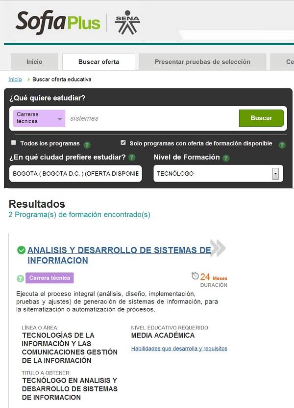 """""""Buscar oferta educativa paso 2"""""""