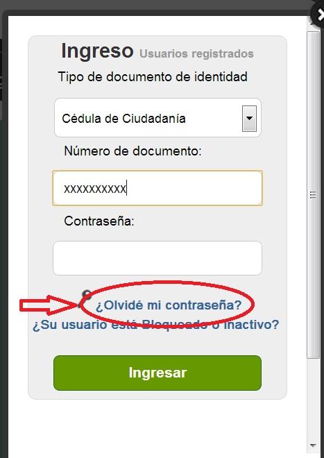 """Recuperar contraseña en SOFIA PLUS. 2"""