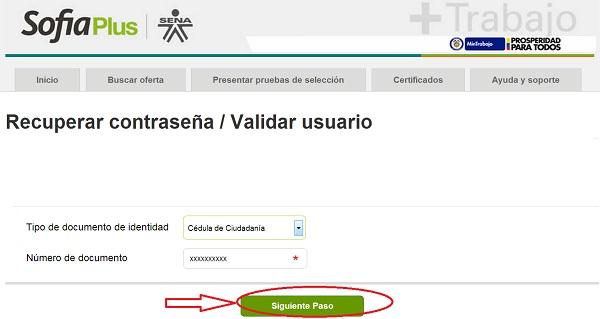 """Recuperar contraseña en SOFIA PLUS. 3"""