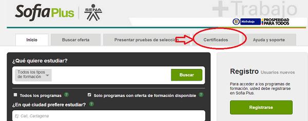 """""""certificados SOFIA PLUS"""""""
